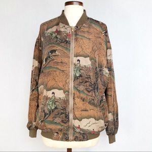 Atlantic Beach silk bomber jacket